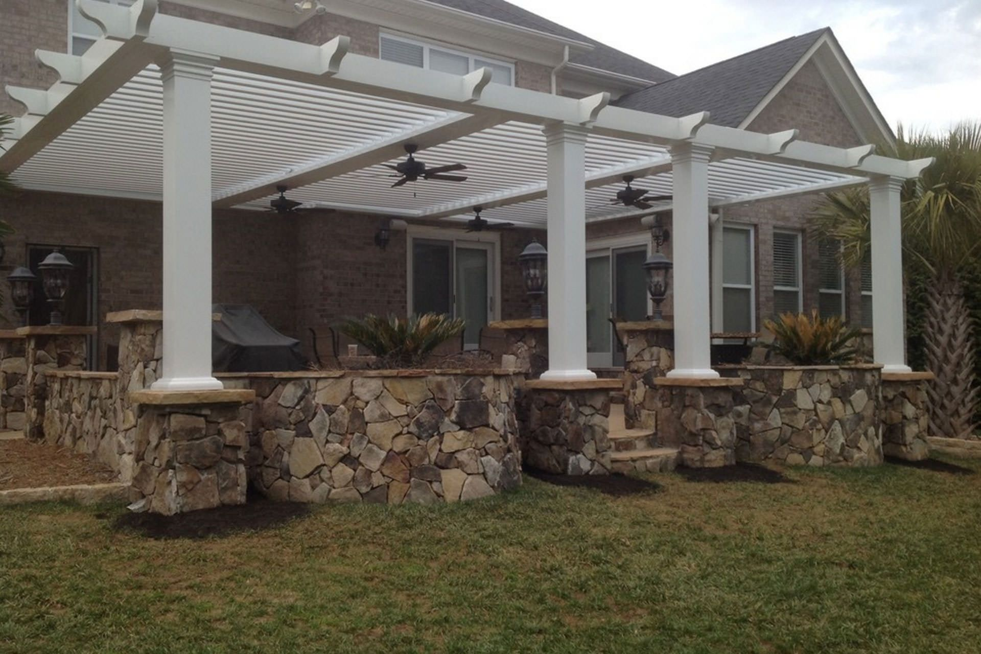 louvered pergola roofs project for hubby pinterest pergola