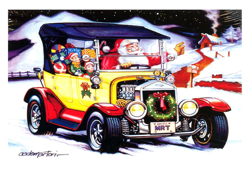 Hot Rods Christmas Cards - X-590 - One (1) Pack of 10 Cards ...