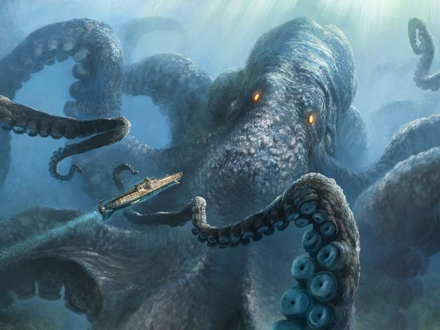 Kraken Possibly The Largest Of All Mythical Creatures Shaped Like A Giant Squid Or Octopus And Lives Deep In Ocean Its Ink Can Wipe Supernatural