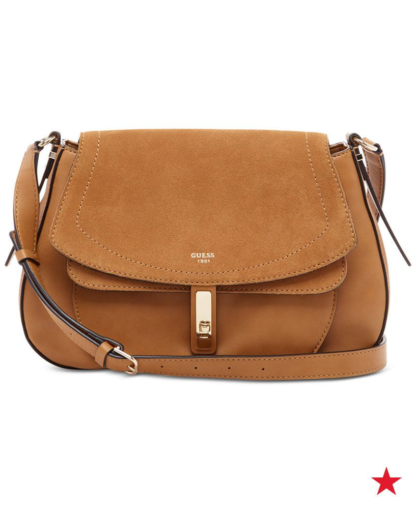 187923014b The mix of textures on this bag from Guess gives the classic crossbody a  stylish update! Shop this beauty in Congac