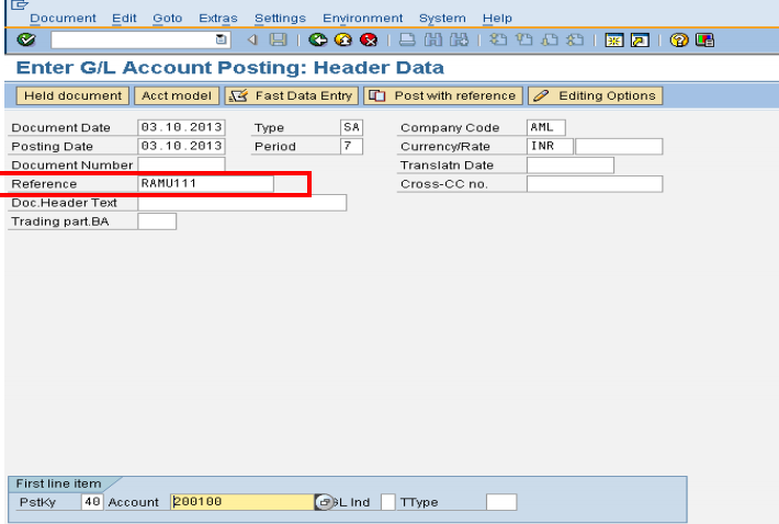 how to display the document by reference in sap fico | sap