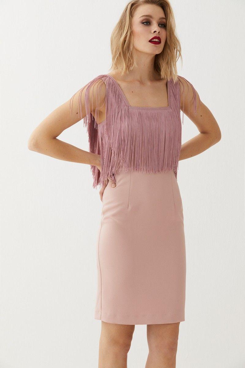 Vestido Corto Rosa Flecos Elissa | Patrones, Spring summer and Spring