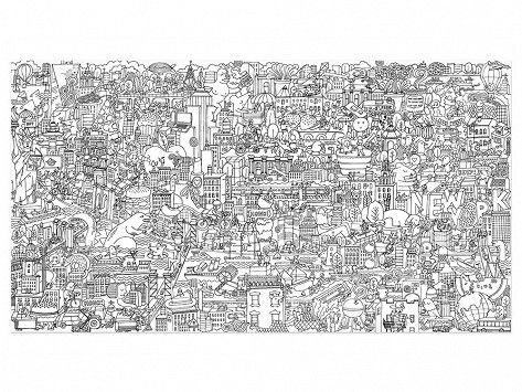 New York City Coloring Posters by Pirasta | made in merica for ...