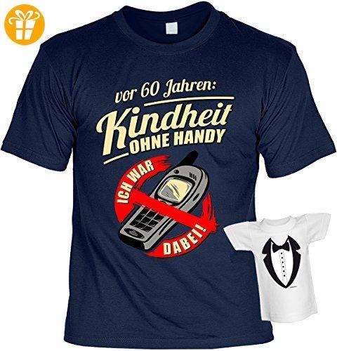 Lustige Sprüche Fun Tshirts - 60 Jahre KINDHEIT ohne HANDY Ich war dabei -  incl.