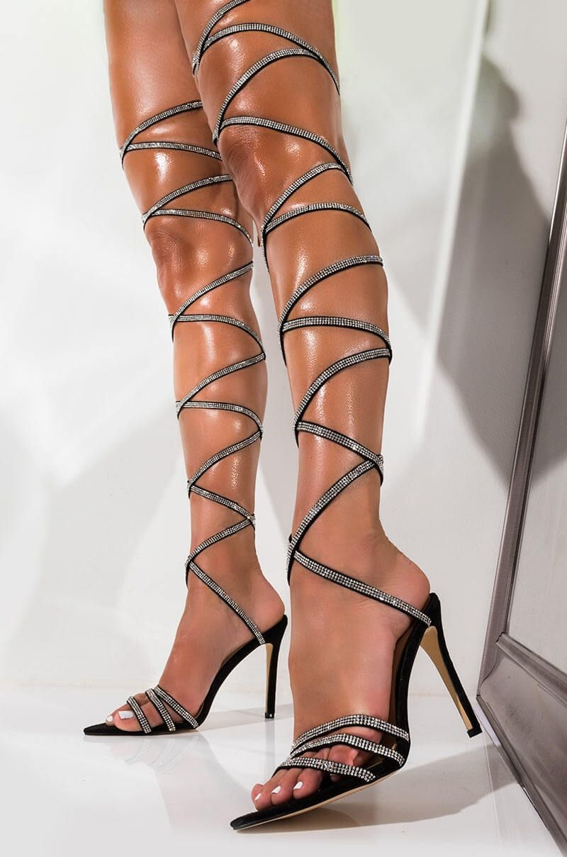 : HotiQues Women's Lace Up Pointy Toe High Heels