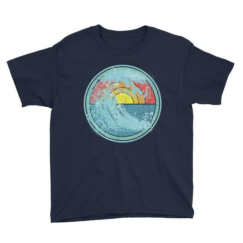 Surfing Youth Unisex Short Sleeve T-Shirt Wave tshirt for | Etsy