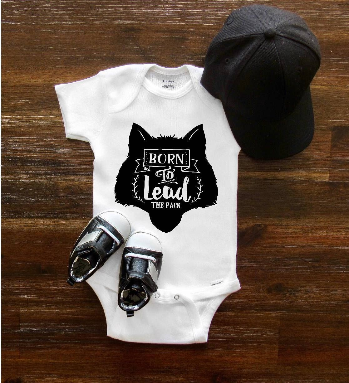 9d92999e4bb4 Wolf Onesie®, Baby Onesie®, Pregnancy announcement Onesie®, Born to lead,  Baby shower gift, Baby girl Baby boy, Newborn Onesie® ...