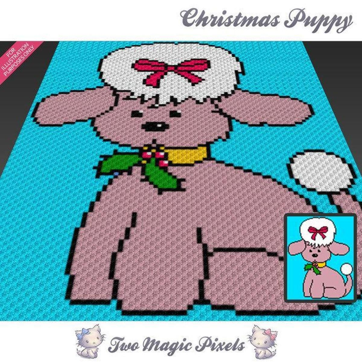 Christmas Puppy C2C Crochet Graph