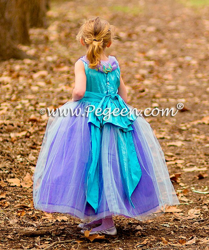 40969479ac Cotillion or Couture Sleeping Beauty Princess Flower Girl Dress w Tulle