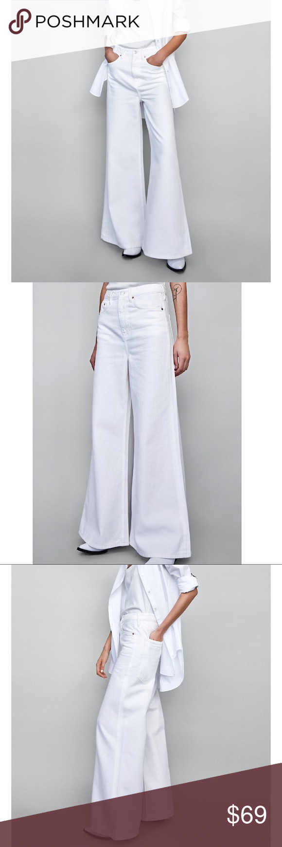 feb10cf0 ZARA Vintage High-Waisted Flared Jeans Features five pockets and ...