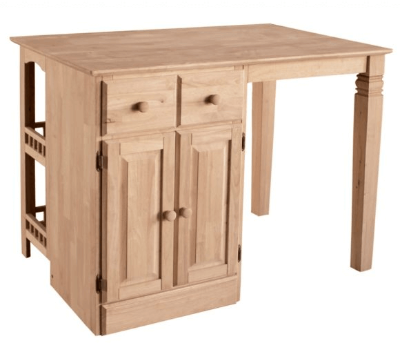 Unfinished Kitchen Island With Storage Unit Underneath #KitchenIslandIdeas