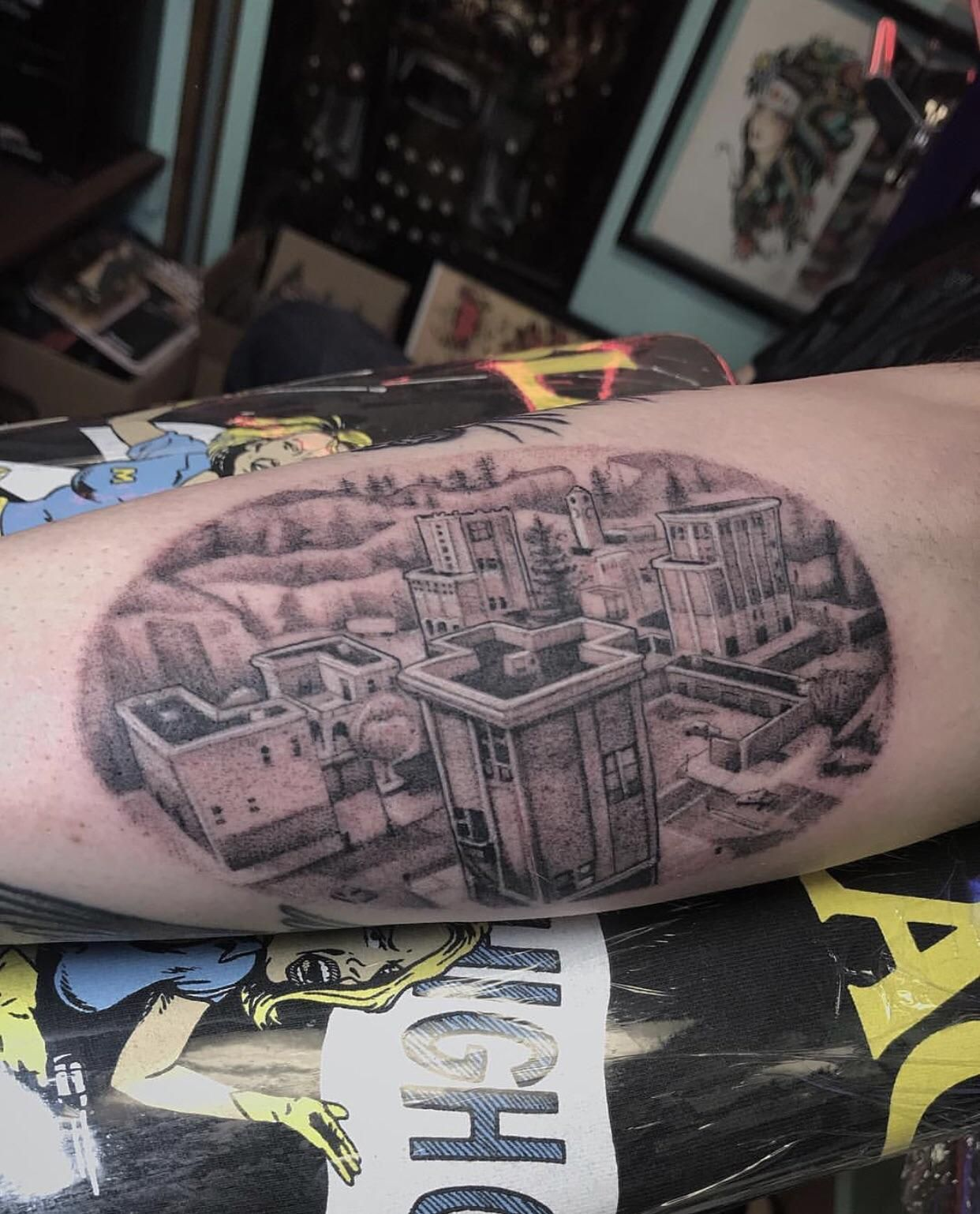 This Massive Tattoo Of Tilted Towers From Fortnite
