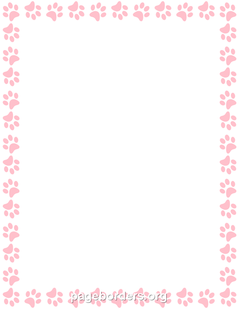 Pink Paw Print Border Clip Art Page Border And Vector Graphics Pink Paw Print Gold Paw Print Paw Template 20kb, pink paw drawing picture with tags: pink paw print border clip art page