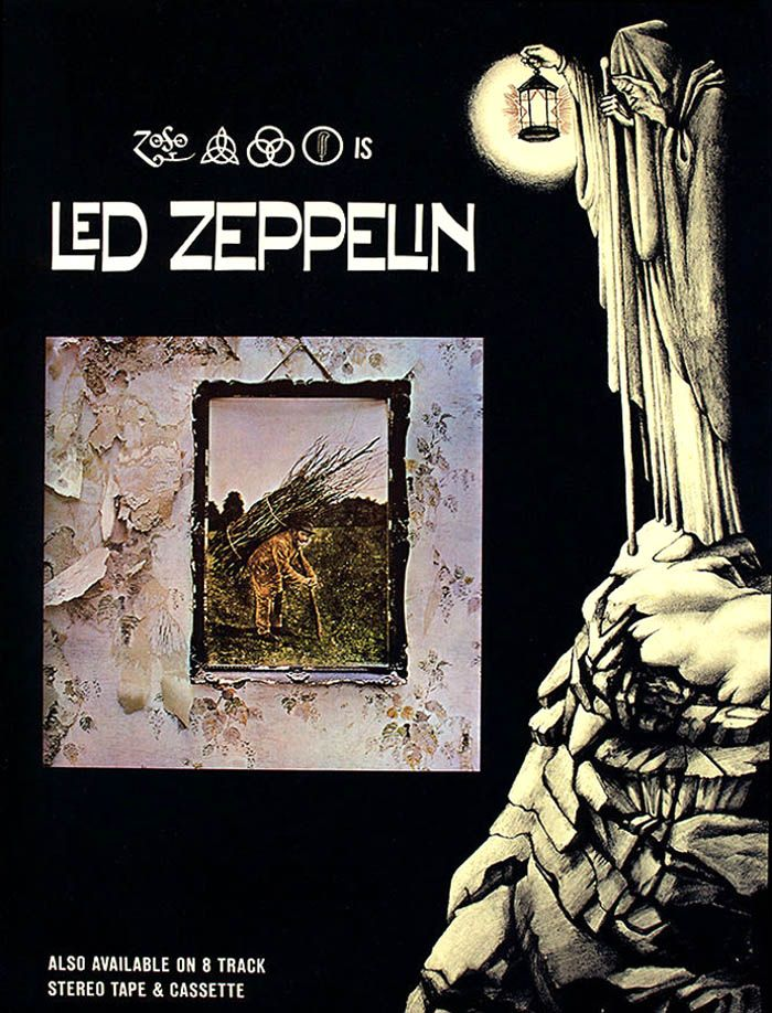 Led Zeppelin Iv Promo Poster It Says The Four Symbols Is Led
