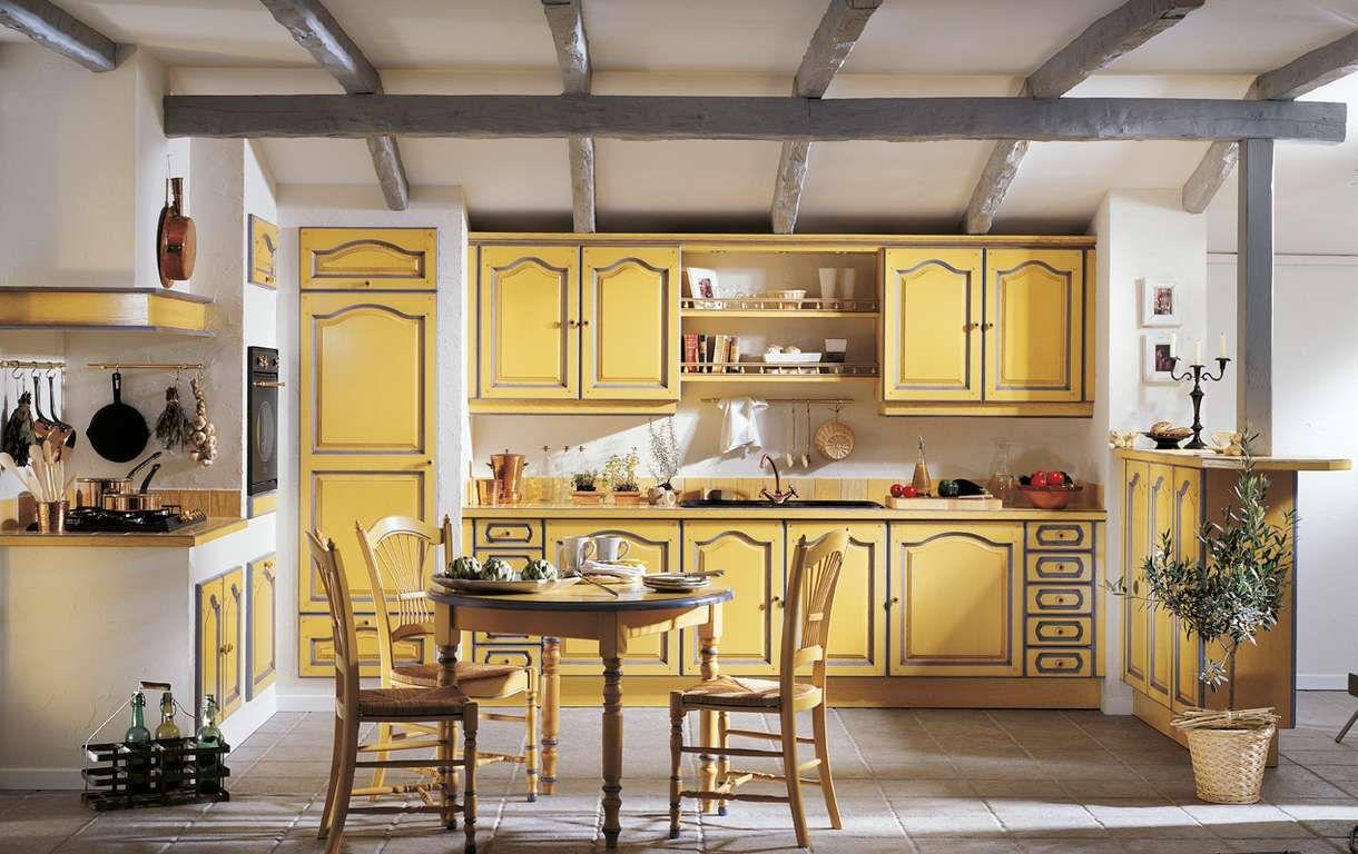 cuisine provencale jaune table manger Cuisines Coppin | Jaune ...