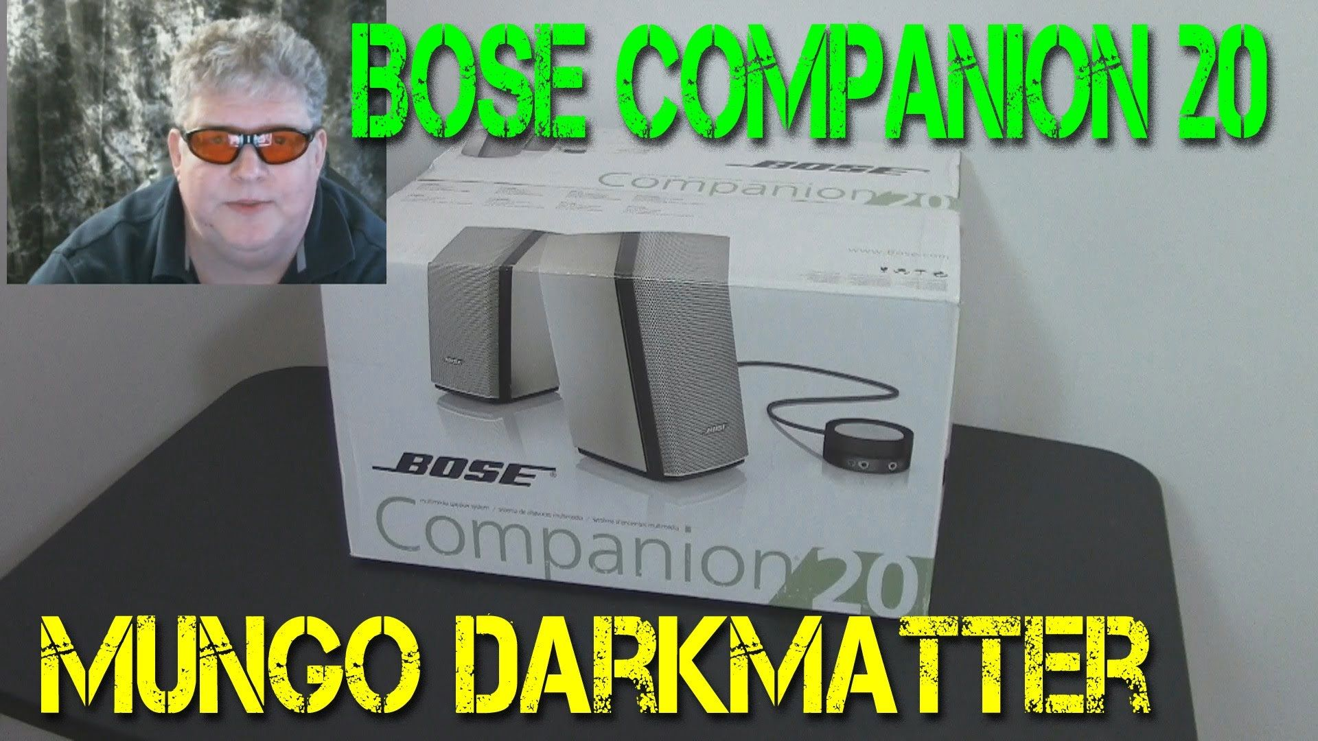 Mungo Darkmatter reviews the Bose Companion 20 PC speakers.