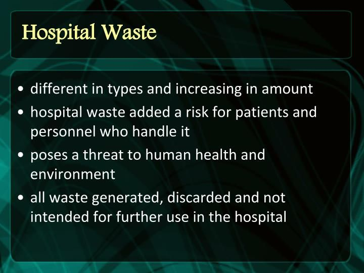 Waste Management Ppt | Ppt Toxic Hazardous And Hospital Waste Management Hospital