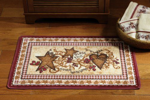 Primitive country hearts and stars bathroom accent rug collections etc http www