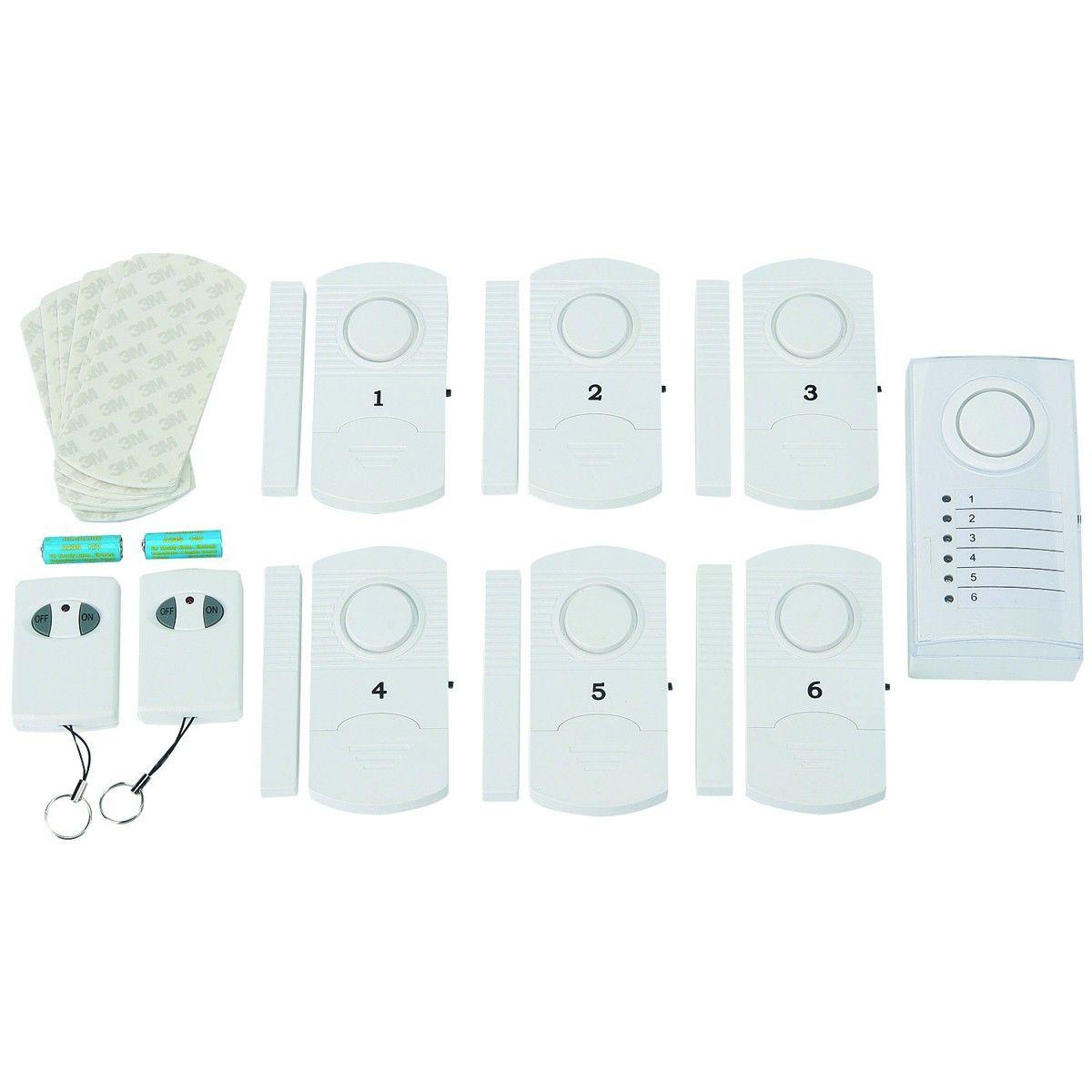 tiiwee Home Alarm System Starter Kit Alarmanlage mit 2 Fenster oder Tuer Senso
