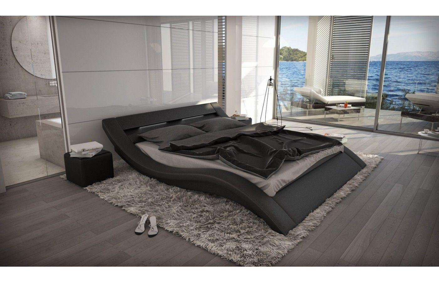 designerbett massa mit led beleuchtung exklusiv bei. Black Bedroom Furniture Sets. Home Design Ideas