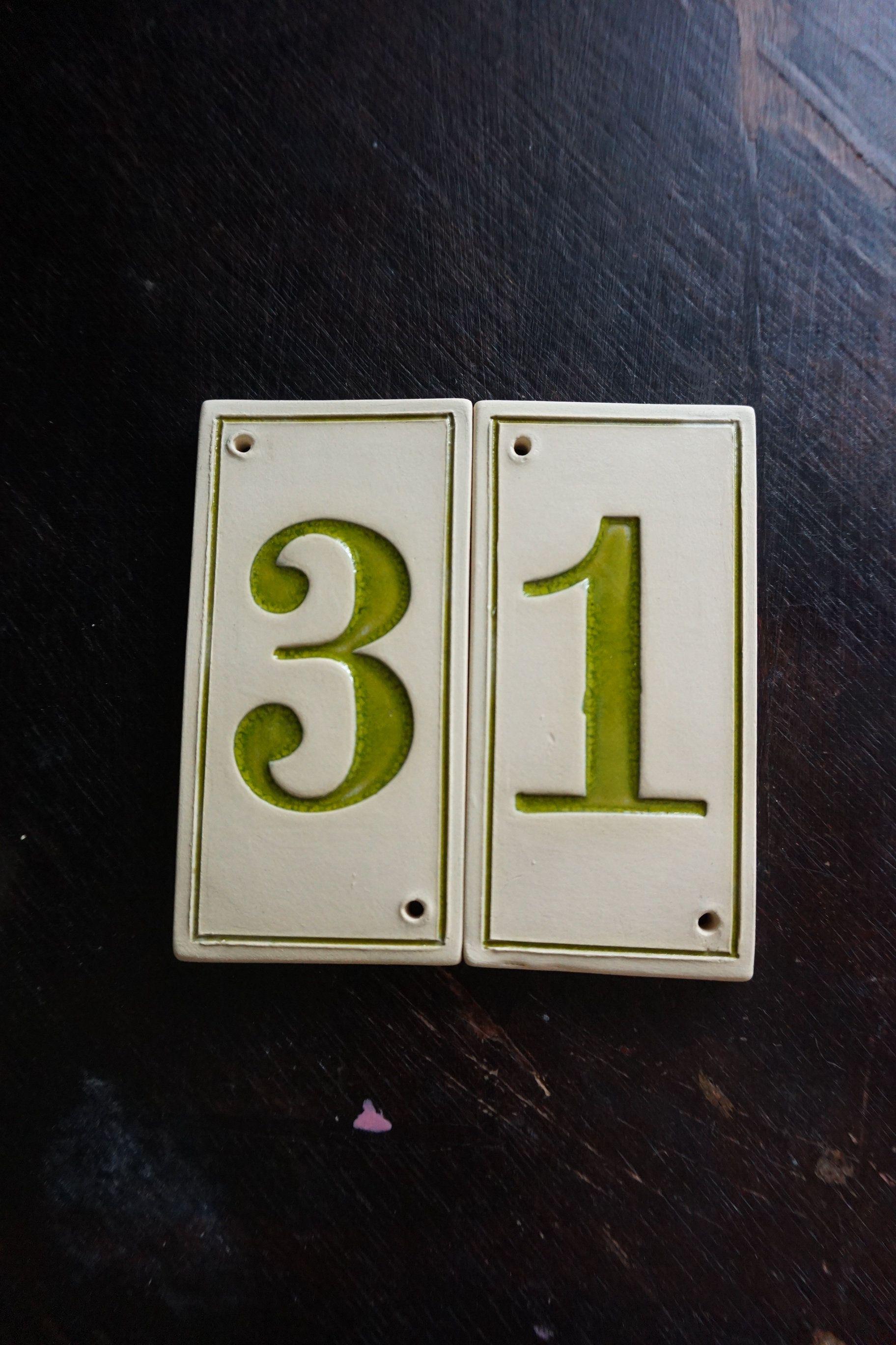 Custom House Number Vintage Home Decor Door Number Vintage