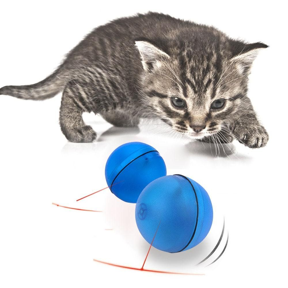 Cat Interactive Toy Aolvo Automatic Rotating Ball With Led Flash Rolling For Puppy Kitten Cat Pet Catching And Chasing F Cat Pet Supplies Pets Interactive Toys