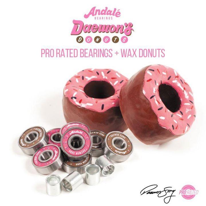 Andale skateboard bearings daewon song donut wax
