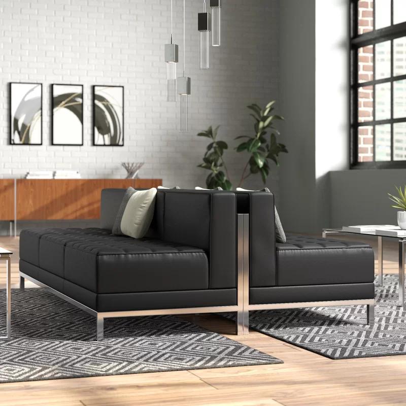 Bouffard Modern Upholstered Lounge Set Upholster Contemporary Leather Sofa Upholstered Bench