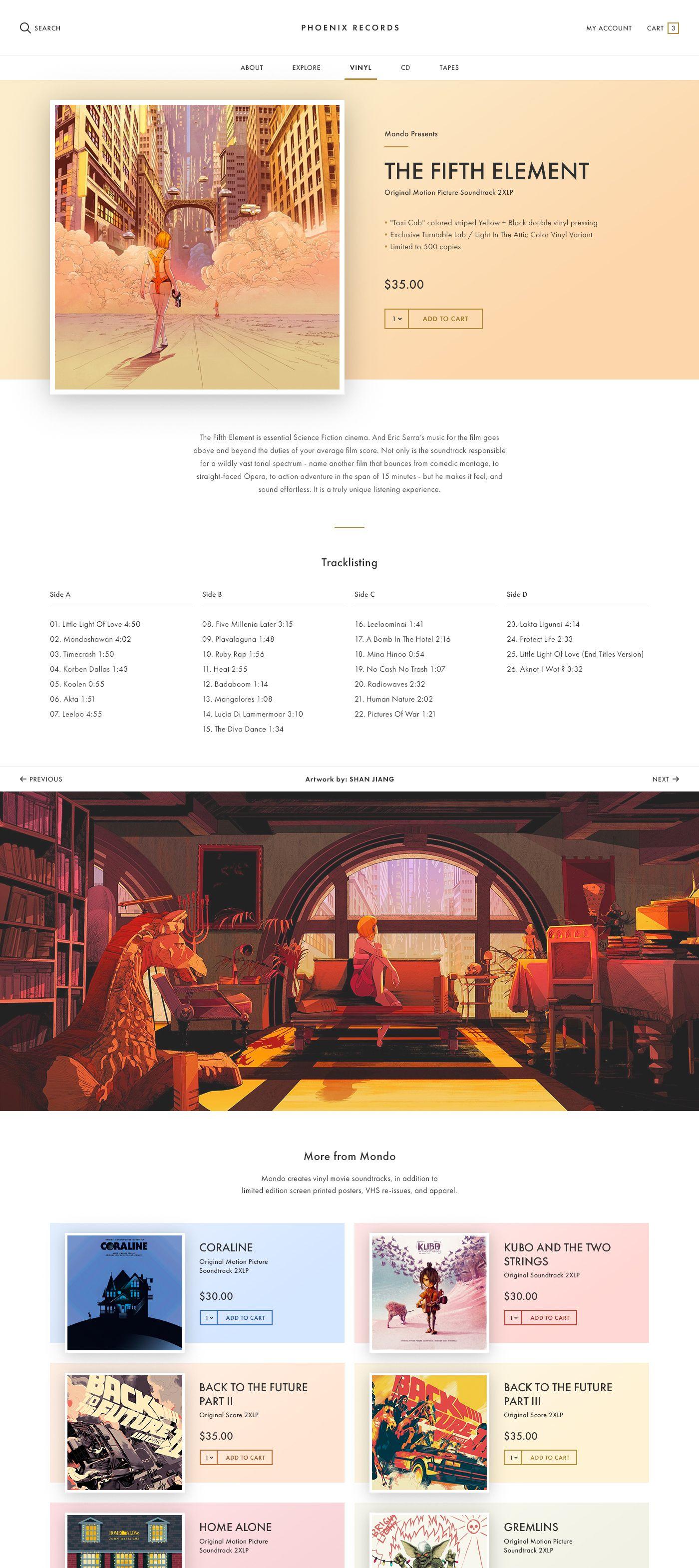 Full Size Record Store Design Interactive Design