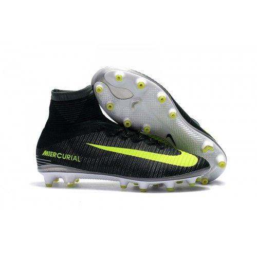 Botas De Futbol Nike Mercurial Superfly V CR7 AG Negro Verde Blanco 9c9982a169474