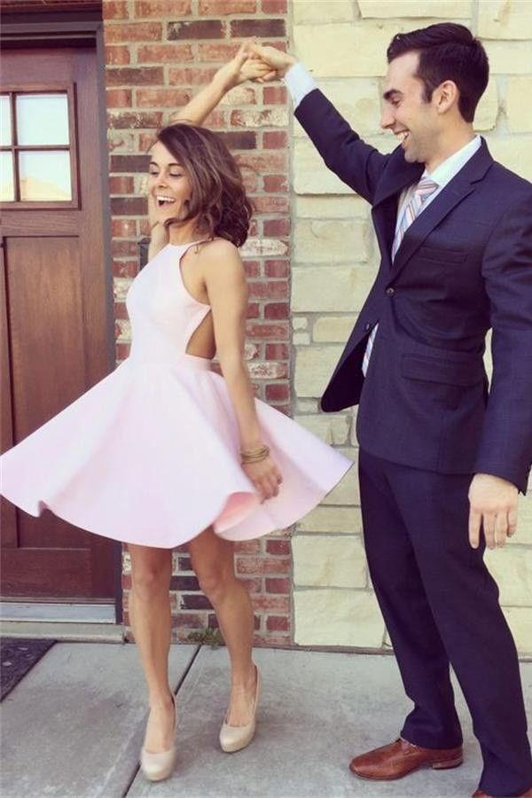 d9f102b6f6f Simple Pink Short Classy High Quality Homecoming Dresses K263