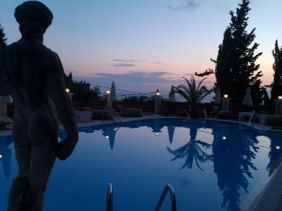 The pool early evening