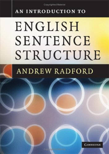 An Introduction To English Sentence Structure Book Is An