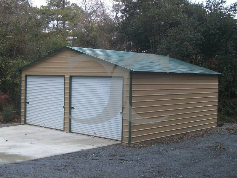 Best Garage Boxed Eave Roof 24W X 26L X 10H Side Entry 400 x 300