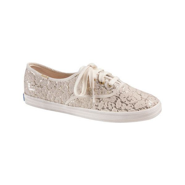 0685c2bd0c0 Women s Keds Champion Leopard Flocked Sequin Sneaker Casual ( 55) ❤ liked  on Polyvore featuring shoes
