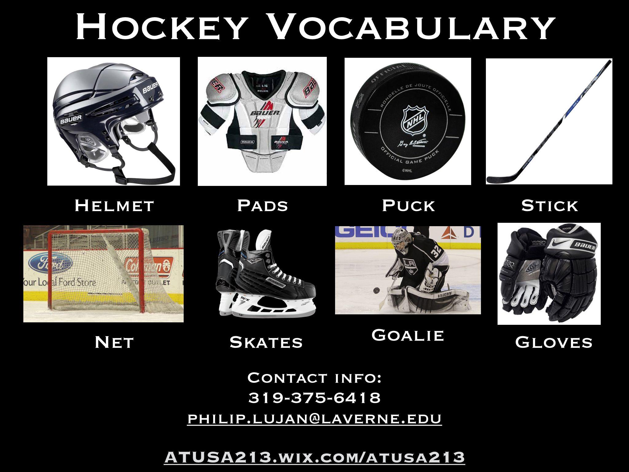 Hockey Vocabulary Atusa213 Wix Atusa213 Atusa213 Gmail