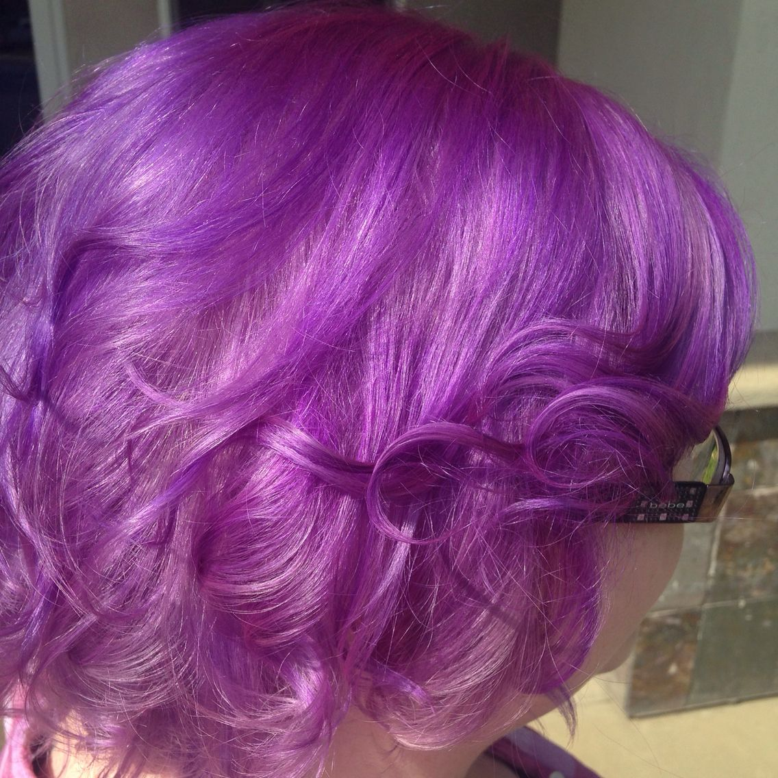 Purple hair I did! Love this Pravana color