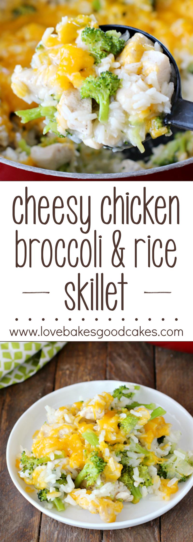 Cheesy Chicken Broccoli  Rice Skillet  Recipe  Love -2971