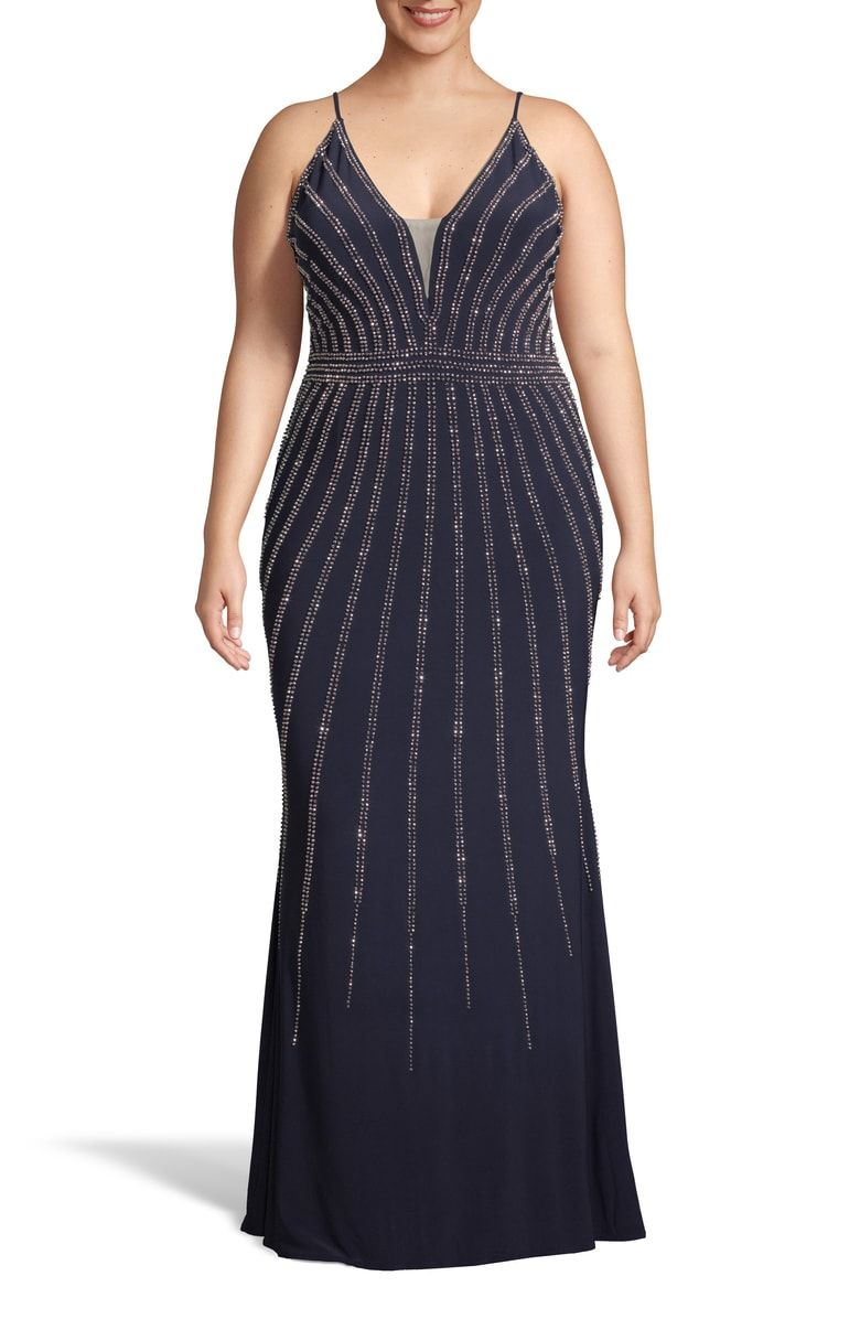 Free shipping and returns on Xscape Beaded Evening Dress ...