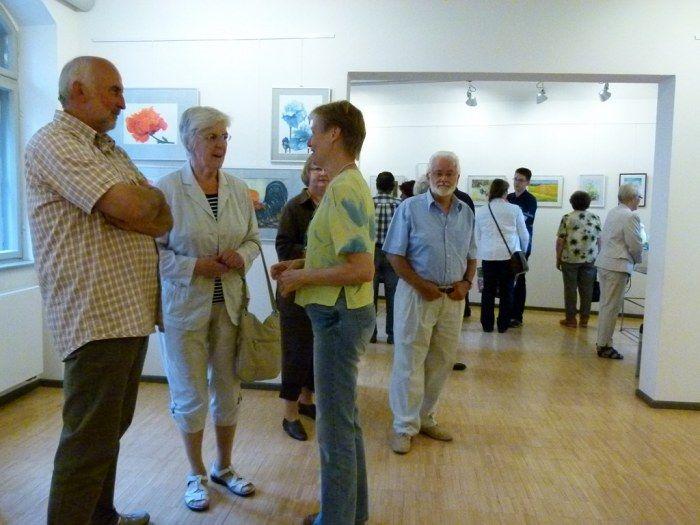 Faszination Aquarell – Unsere Ausstellung in Schwerin   Malschüler und Gäste in der Ausstellung Faszination Aquarell (c) FRank Koebsch (1)