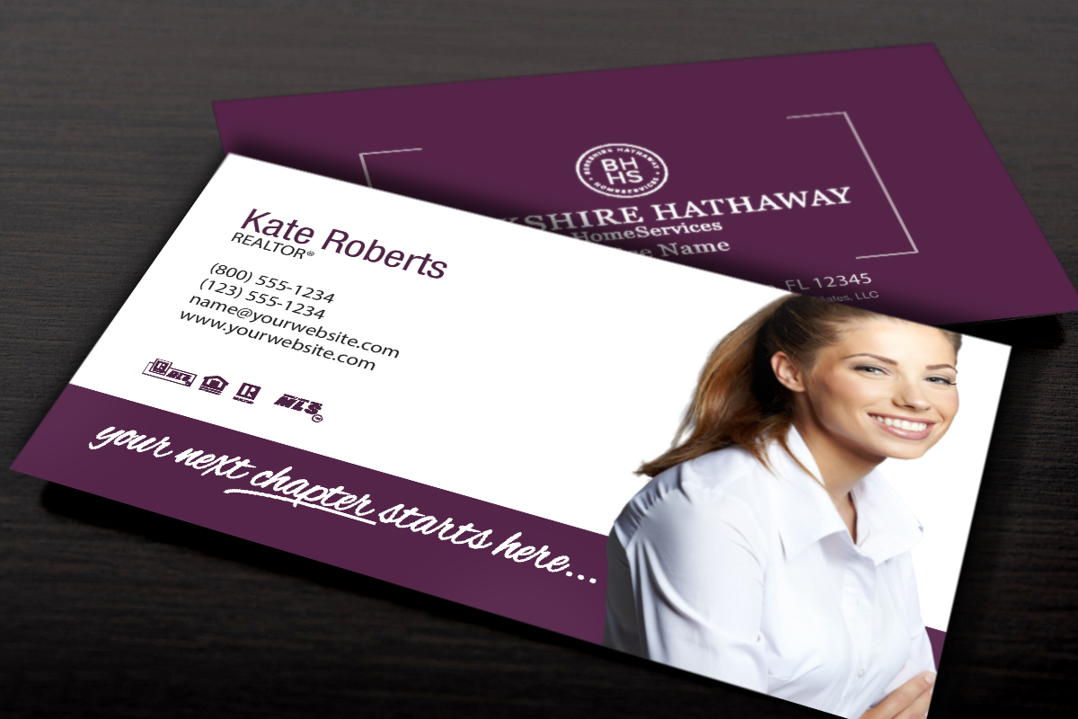 Have You Seen Our New Berkshire Hathaway Business Cards Realtor Berkshirehathaway Re Real Estate Business Cards Business Cards Online Real Estate Business