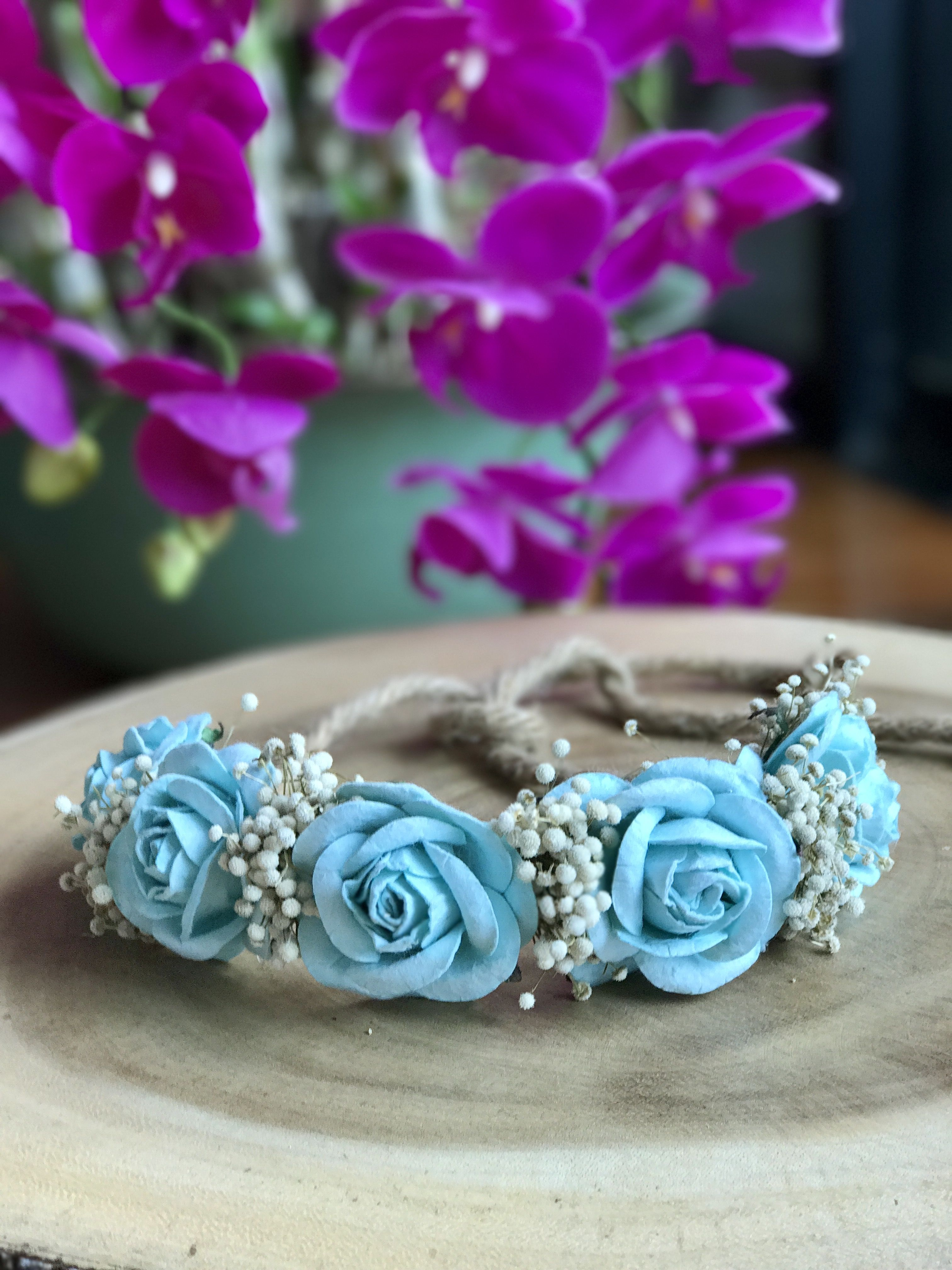Izzy flower crown blue flower crowns pinterest flower crowns izzy flower crown blue izmirmasajfo