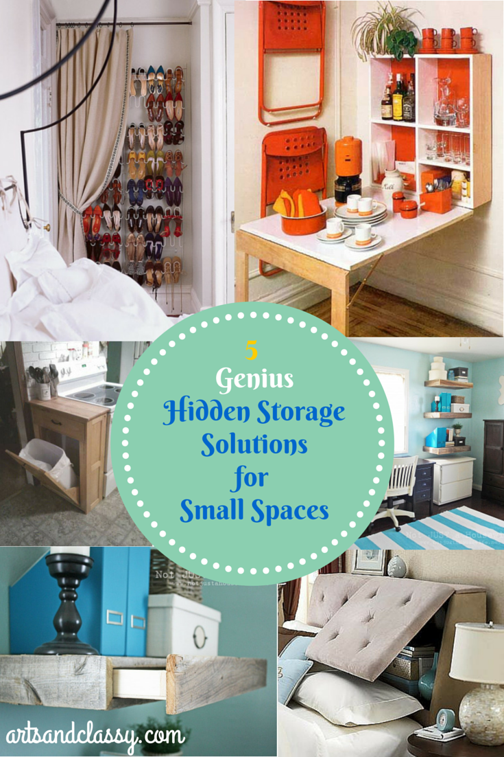 5 Genius Hidden Storage Solutions for a Small Space | Organization ...