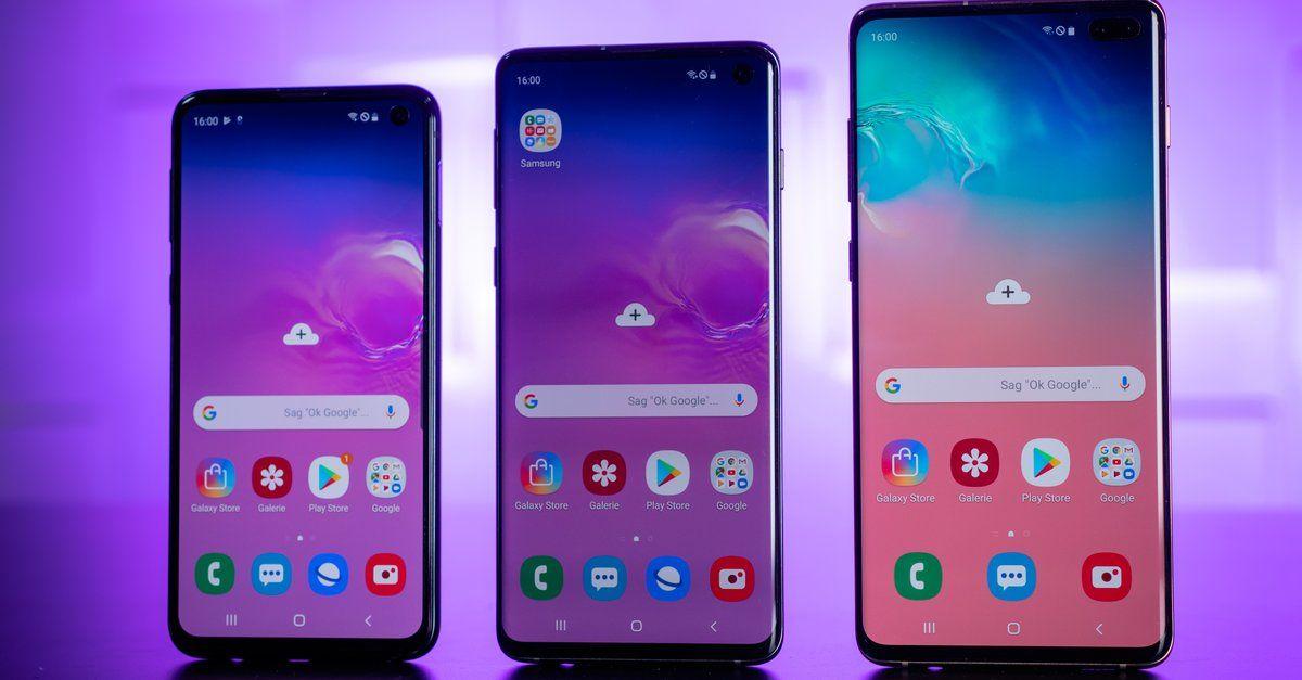 Samsung Galaxy S10 S10 Plus Und S10e So Viel Kostet Der Tausch Des Displays Galaxis Samsung Neue Smartphones
