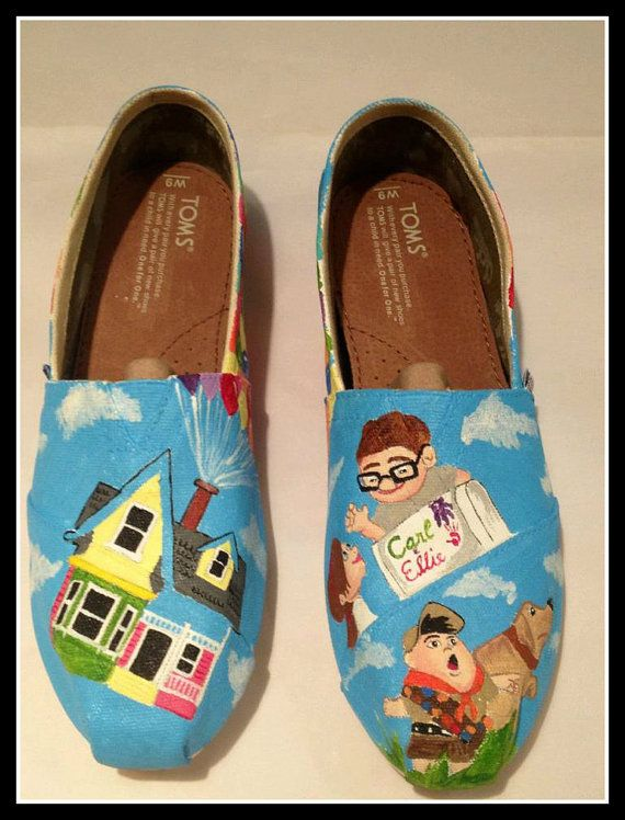 UP inspired custom painted TOMS