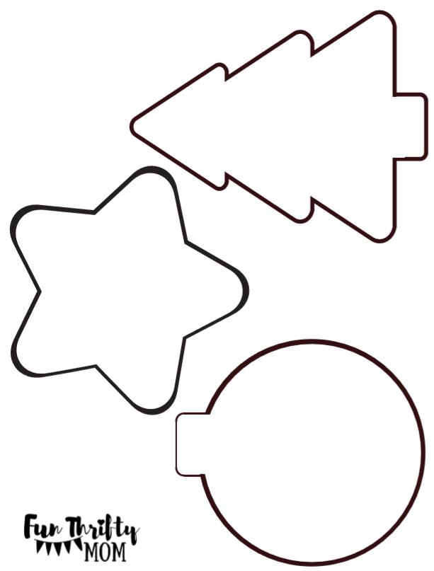 DIY felt ornament stencil for cute felt christmas ornaments. - DIY Easy Felt Christmas Ornaments Cool Craft Ideas Pinterest