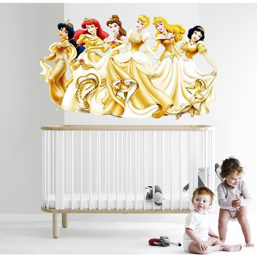 Full color decal Fairy Princess sticker, colored Princess wall art ...