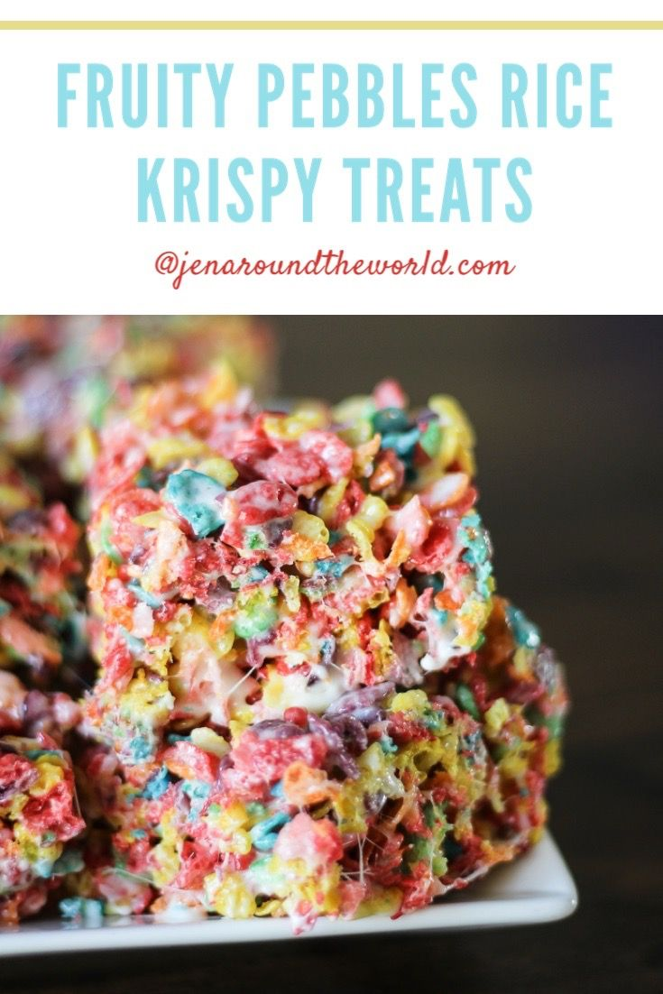 Fruity Pebbles Rice Krispy Treats