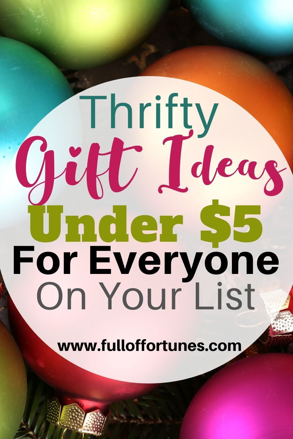 Affordable gift ideas under 5 for everyone on your list