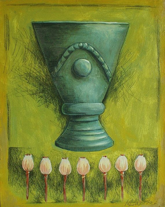 Vase and flowers painting still life painting by MarieClaproodArt